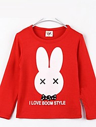 Boy's Fashion Cartoon Rabbit Design Tees