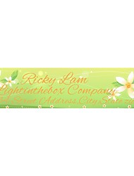 Personalized Product Labels / Address Labels Flower Pattern Pink Film Paper