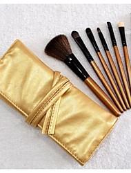 Professional 7 pcs Makeup Brush Set Tools Make-up Toiletry Kit Wool Brand Make Up Brush Set Case