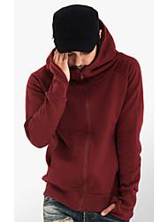 Allen Men's Fashion All Match Solid Color Sweate