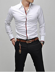 A Fish Men's Casual Lapel Collar Long Sleeve Shirt