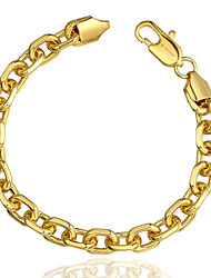 Fashion Individual Women's 10M Lock Copper Gold Plated Chain & Link Bracelet(Rose Gold,Golden)(1Pc)
