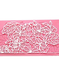 Rose Leaves Lace Mold For Cakes
