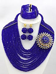 Fashion African Lady Jewelry Set 2015 Summer Fashion Costume Jewelry Set