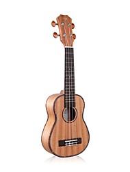 """ukulele acústico Tom 21 """"mogno soprano com corda aquila"""