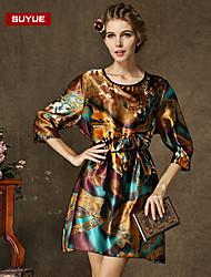 Suyue® New Fashion Women's  Plus Size Slim  Loose  Three-Quarter Sleeves Dress