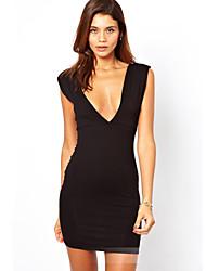 Eose Women's Fashion Charm V-Neck Bodycon Dress