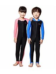 LS-801 Kids UPF 50+ Lycra Diving Skin Suits Anti-UV Wear Swim Snorkeling Water-ski  1 Piece Full Body For Children