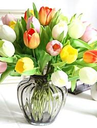 7pcs real toque vívido artificial tulipas flores decorativas partido casa decoração de casamento buquês de noiva (mais cores)