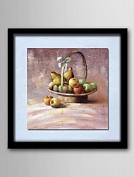 Oil Painting Still Life of Fruit Hand-Painted Canvas Solid Wood Frame Frameless Paintings