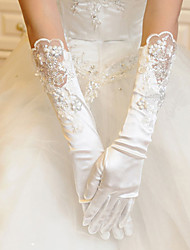 Satin/Lace Opera Length Wedding/Party Glove