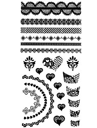 1PC 3D Black Nail Art Stickers Lace Nail Wraps Nail Decals French DIY Salon Nail Polish Decorations
