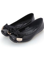 Ballerines ( Noir/Marron/Or Semelle compensée/Confort/Bateau/Spartiates/Bout rond - Talon plat - Cuir/Polyester - pour FEMMES