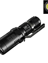 Lampes Torches LED LED 900 Lumens 4.0 Mode Cree XM-L2 U2 Cree 14500 AA Résistant aux impacts Surface antidérapante Rechargeable