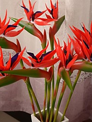 Plastic Strelitzia Artificial Flowers