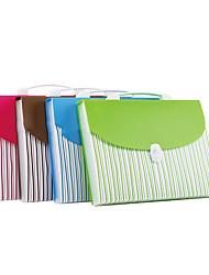 Green A4 Portable School Paper Folder Bag