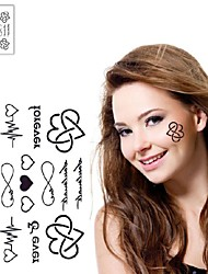 1Pc Heartbeat Love Each Other Forever I love You Heart Tattoo Stickers Temporary Tattoos