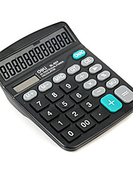 837 Dual-Power Supplies 12 Digits Screen Calculator with AA Battery