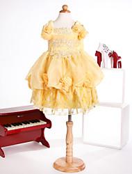 Flower Girl Dress Princess Square Ankle-Length Organza Dress