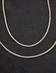 18K Real Gold Plated Necklace+Beacelet Jewelry Set