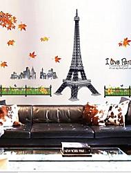 съемный романтический Париж гостиная / диван фон стикер стены