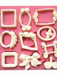 European Style Small Retro Frame Fondant Cake Molds Decoration Chocolate Mould For The Kitchen Baking For Sugar Candy