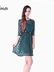 NUO WEI SI ® Women's Style New Slim  Lace   Dress