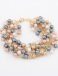 Masoo Women's Fashion Delicate Multi Layer Pearl Bracelet