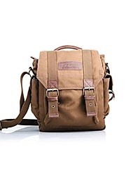 EIRMAI SS09 Small Canvas SLR DSLR Digital Camera Gadget Organizer Shoulder Bag Brown