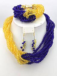 Nigerian Beads Jewery Set African Wedding Crystal Beads Jewelry Set