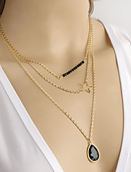 Collier ( Alliage , Noir ) Onyx