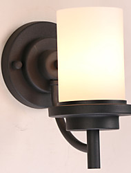 Ecolight® 60W Retro Iron American Style Wall light in Painting Processing with Frosted glass