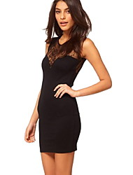 Kalimie Women's Backless Cut Out Sexy Fashion Bodycon Lace Dress