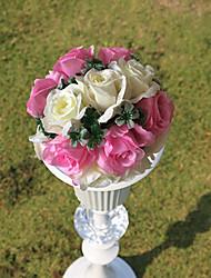 """9.8 paño de seda """"estilo rural balón Rosa flor de la simulación bola blanca flor decorativa"""
