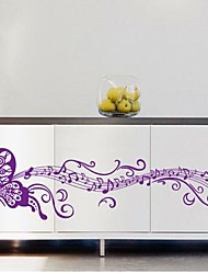 Environmental Removable Purple Butterfly PVC Wall Sticker