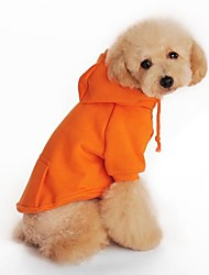 Dog Hoodie / Clothes/Clothing Orange Spring/Fall Classic Holiday