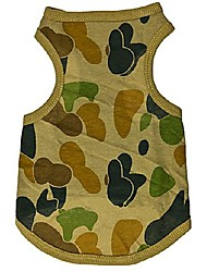 Cat / Dog Shirt / T-Shirt Green Summer Camouflage Wedding / Cosplay