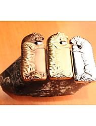 Creative Wind Tiger Lighter Gold Silver Brown
