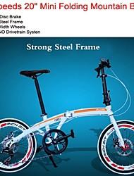 """Kaijie ™ Transmission Shimano roues de largeur forte trame de 40mm en acier 7 vitesses 20 """"montagne de vélo mini pliage"""
