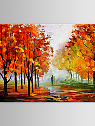 IARTS Oil Painting Modern Landscape Loves Along Country Road Hand Painted Canvas with Stretched Frame