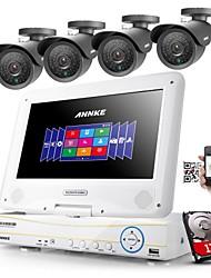 annke® 4ch ahd 960H DVR / HVR / NVR + 4 800tvl 100ft IR sistema di telecamere di sicurezza di visione notturna (HDD 1TB)