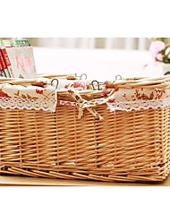 Red Line On The New Rural Receive Wicker Basket Household Daily Receive The Cane Makes Up Basket z001