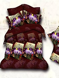 Shuian® Duvet Cover Set,3D Active Print Comforter Bedding Set Duvet Cover Sheet Pillowcase Linen Home Textile