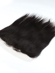 """1pcs / lot 16inch 13 """"x4"""" fermeture de cheveux naturelle brésilienne vierge de cheveux humains dentelle frontale fermeture droite"""