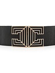Women PU Wide Belt , Vintage/Cute/Party/Work/Casual Alloy