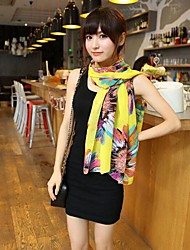 Lady Yellow Sunflower Flower Scarf