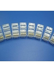 RJ45 Network Crimp Plugs 8P8C (10-pcs retail box set)