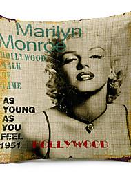 Классический Мэрилин Монро 1951 рисунком хлопок / лен декоративная подушка крышка