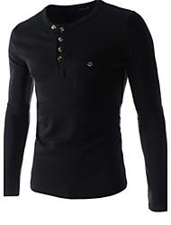 t-shirt nuovo collare rotondo causale colore solido moda uomo martin