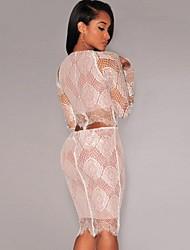 Women's Nude Illusion Delicate Skirt Set